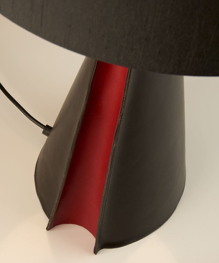 Barcelona table light, a bedside table light in brown leather  - Chad Lighting