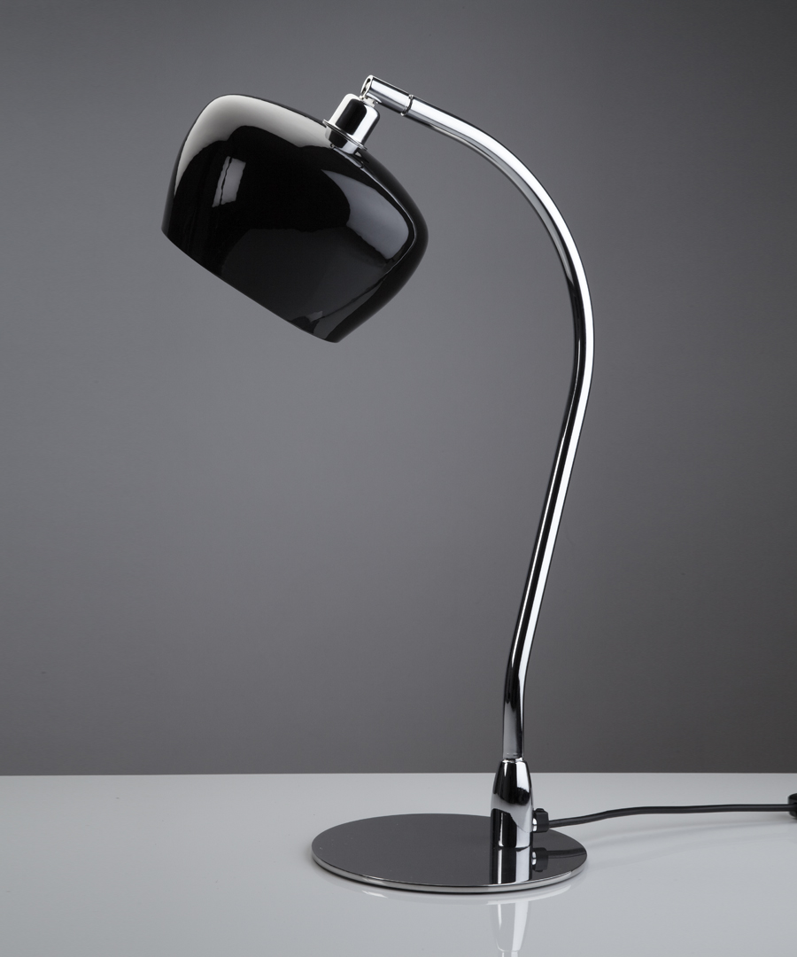 Morning table light, metal table lamp with a black, bone china shade - Chad Lighting