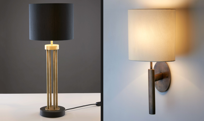 Chad Lighting offers antique brass finish as standard