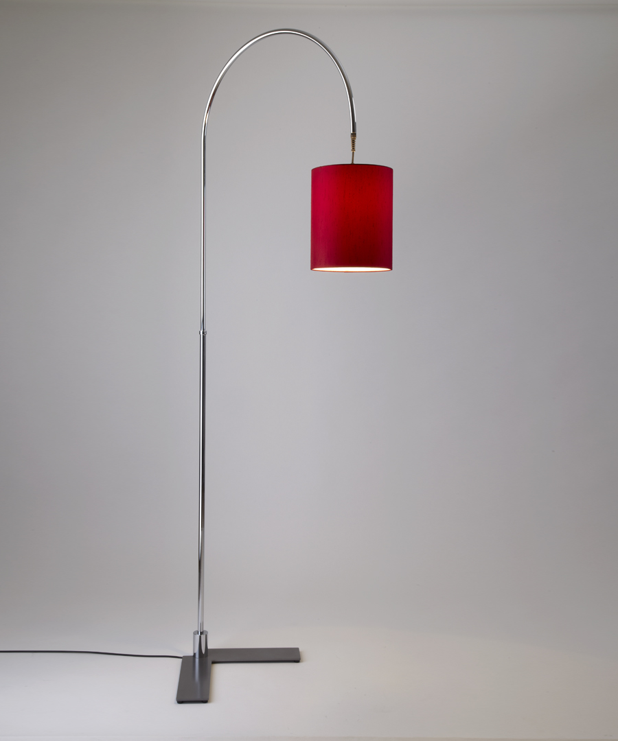 Arch floor light, a chrome light with a small shade - Chad Lighting
