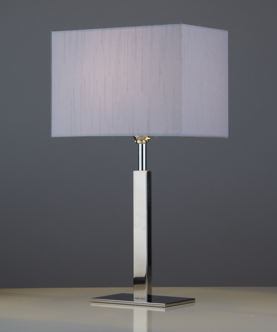 Avila table light, a bedside lamp in metal with a gunmetal shade - Chad Lighting