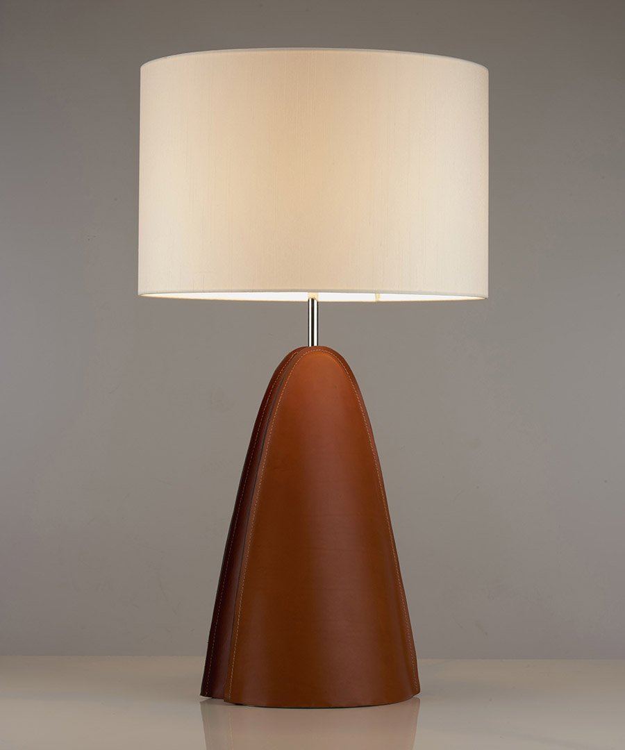 Barcelona table light, a bedside lamp with a white shade - Chad Lighting