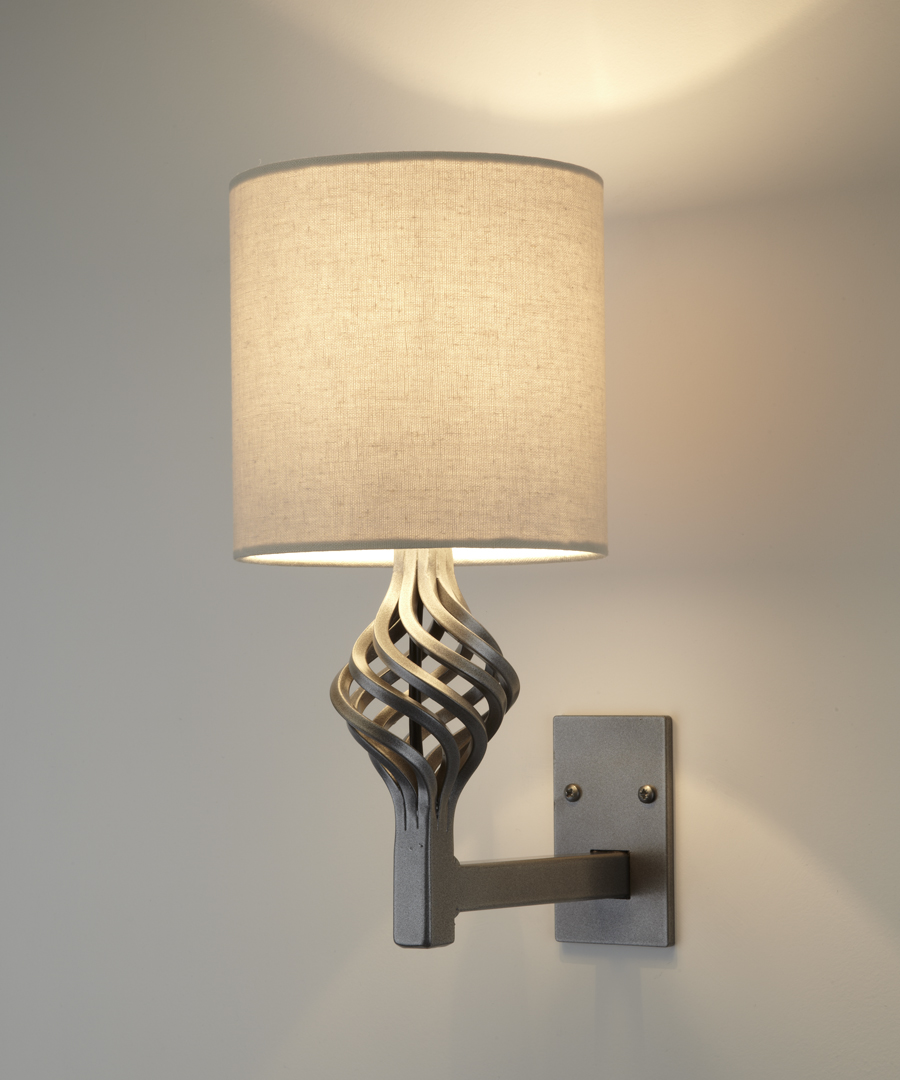 Dryad wall light, steel wall light with epoxy coating featuring a spherical cage - Chad Lighting
