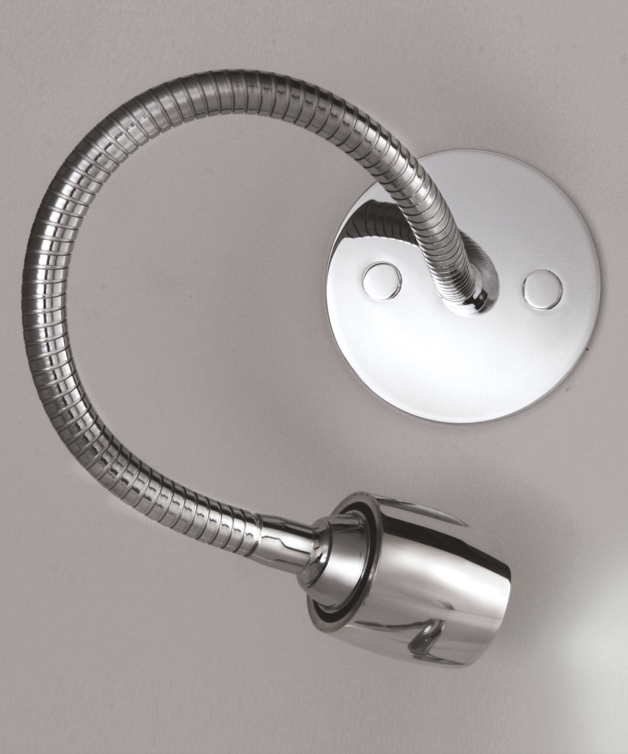 Luna wall light, LED reading light with a flexible arm, round plate - Chad Lighting
