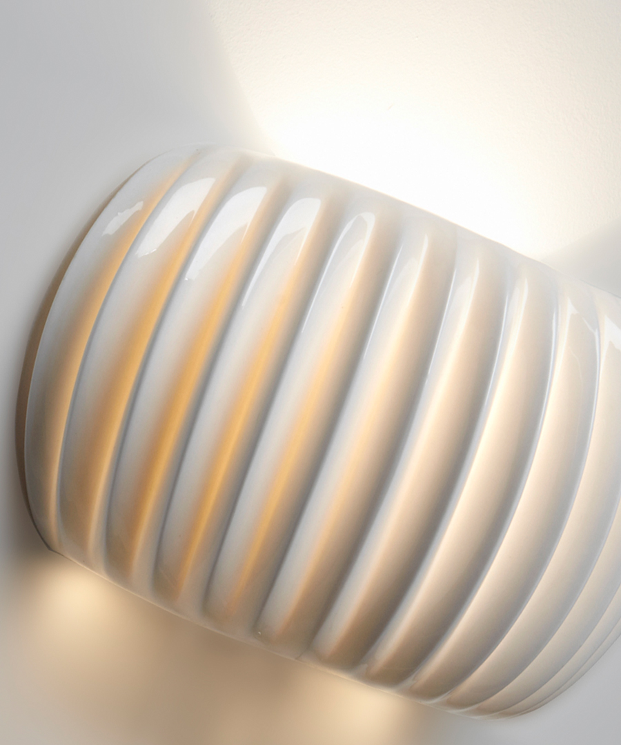 Monterey wall light, Bone China detail shot - Chad Lighting