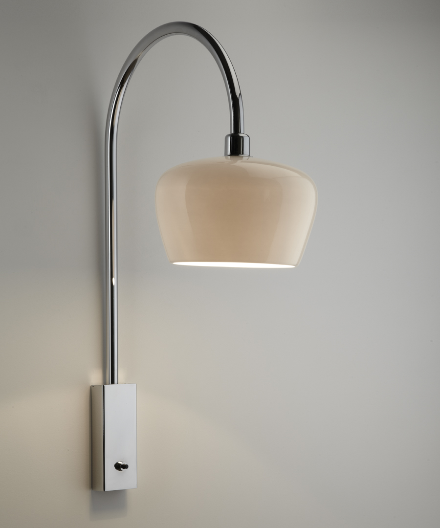 Morning wall light, with an ivory, bone china shade - Chad Lighting