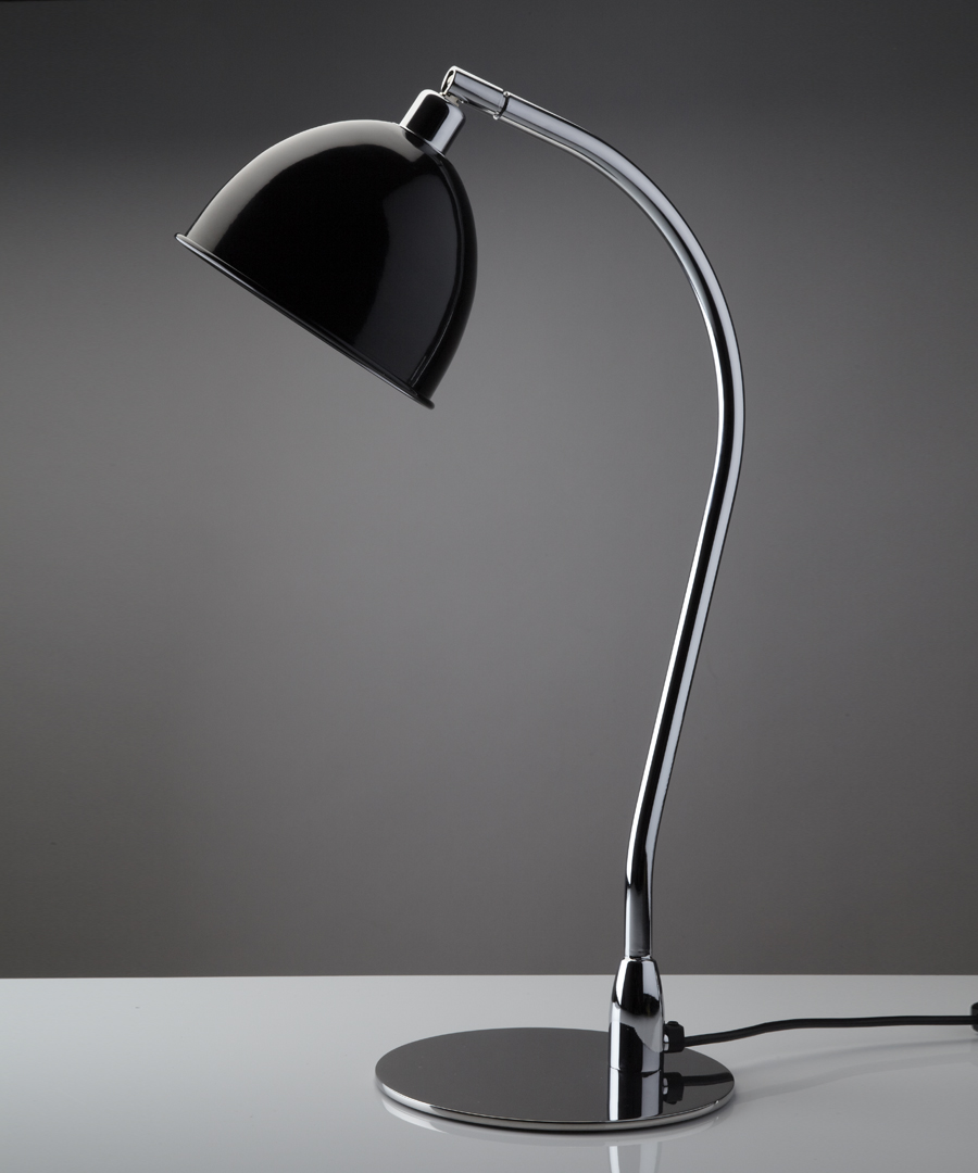 Pablo table light, metal table lamp with black cowl - Chad Lighting