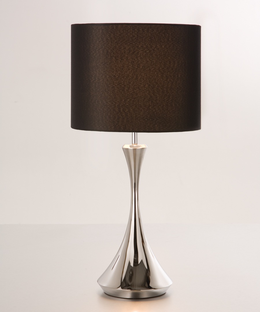 Pigalle table light, table lamp in polished stainless steel - Chad Lighting