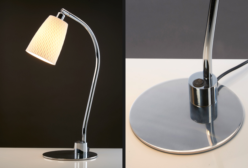 Chad Lighting revamps Evening Table light