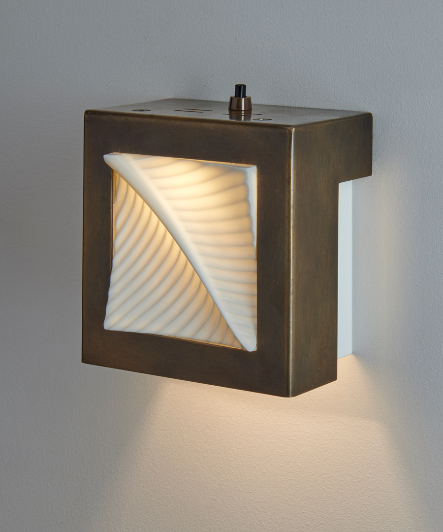 Autumn Leaf - Wall Light, Old Brass and Bone China - Chad Lighting