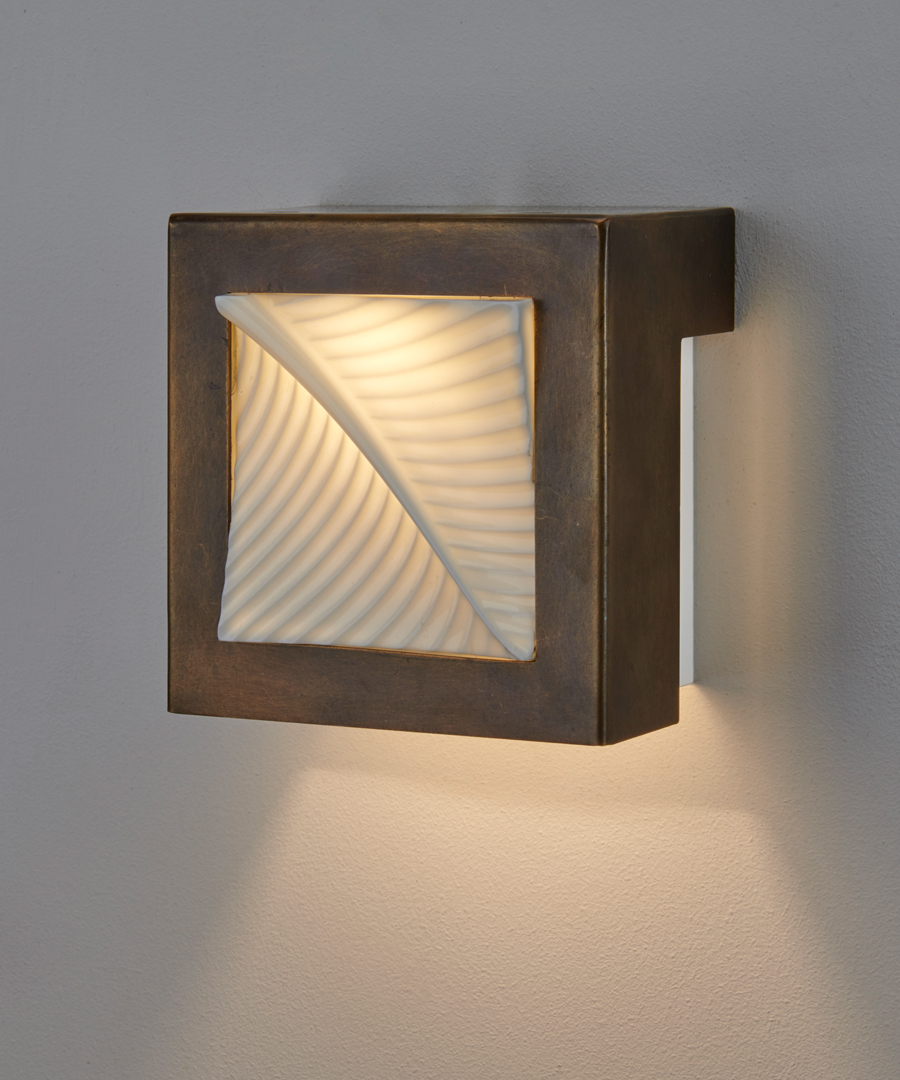 Autumn Leaf - Wall Light, Old Brass and Bone China without switch - Chad Lighting