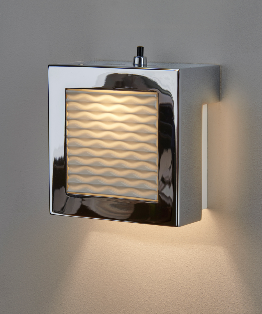Autumn Waves - Wall Light, Chrome and Bone China - Chad Lighting