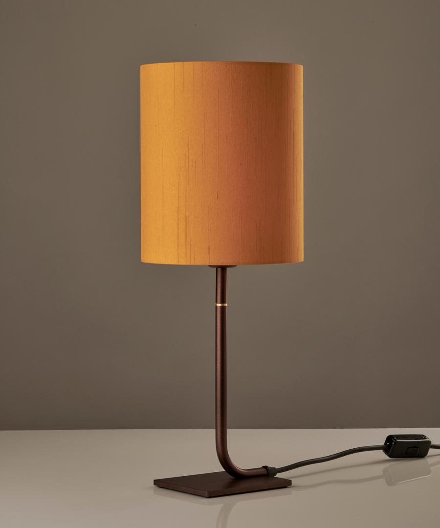 Iona - Table Lamp, Bronze with Gold Shade - Chad Lighting