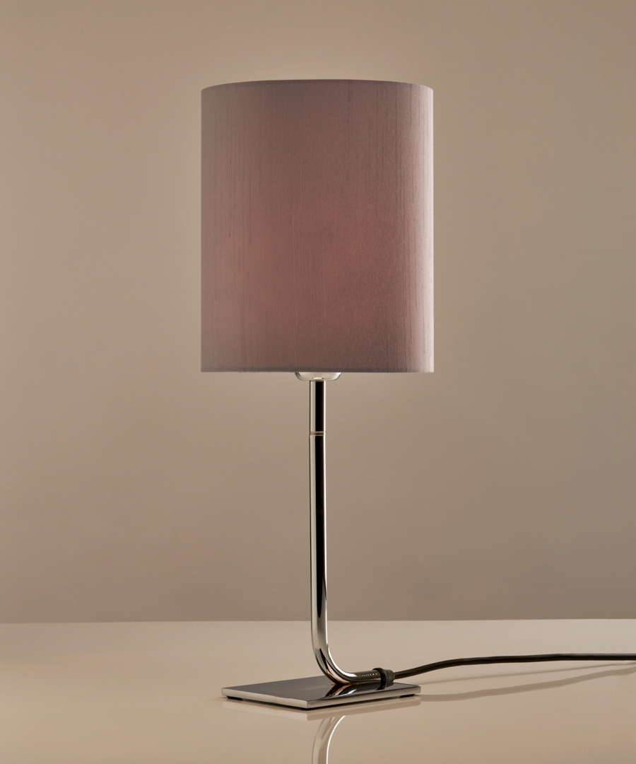 Iona - Table Lamp, Chrome with Gunmetal Shade - Chad Lighting