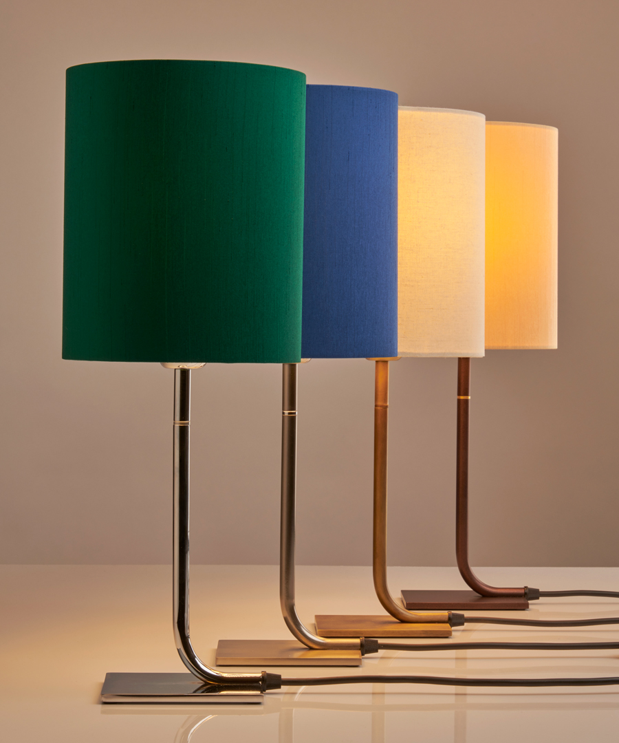 Iona - Table Lamp, group photo of 4 table lights in a row - Chad Lighting